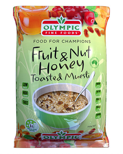 fruit nut honey muesli