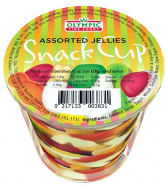 Snack Cup – Assorted Jellies