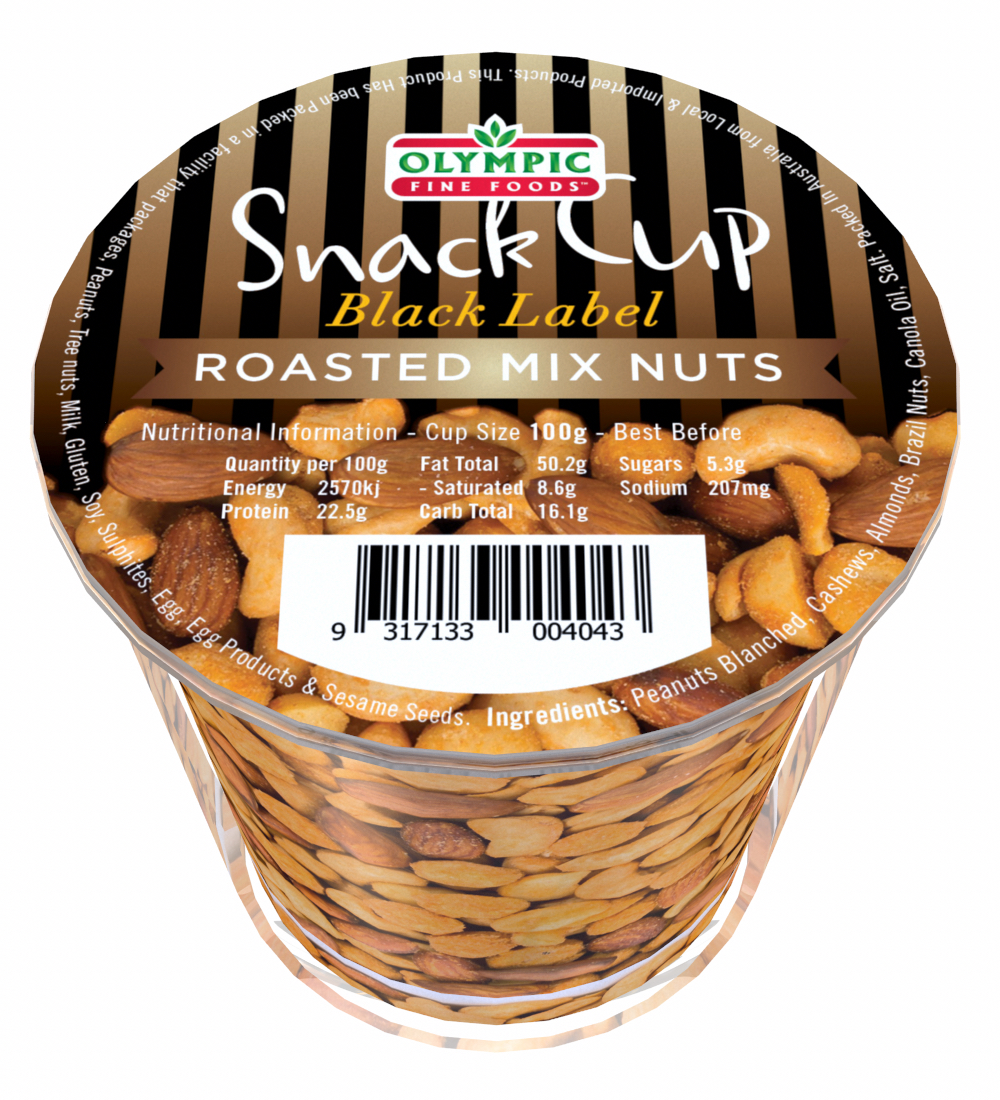 Snack Cup – Black Label Roasted Mix Nuts